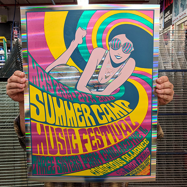 Summer Camp Music Festival 2018 Poster for Conscious Alliance