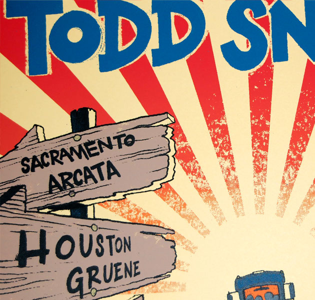 Todd Snider Spring Fables Tour 2012 poster
