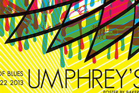 thumbnail for Umphrey's McGee LA March 2013 silkscreen poster