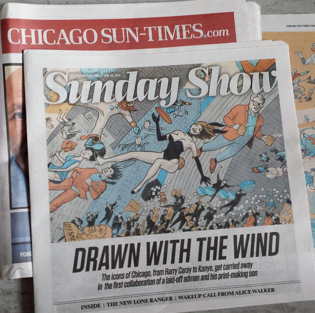 Baker Prints' Windy City Art Featured in Chicago Sun-Times