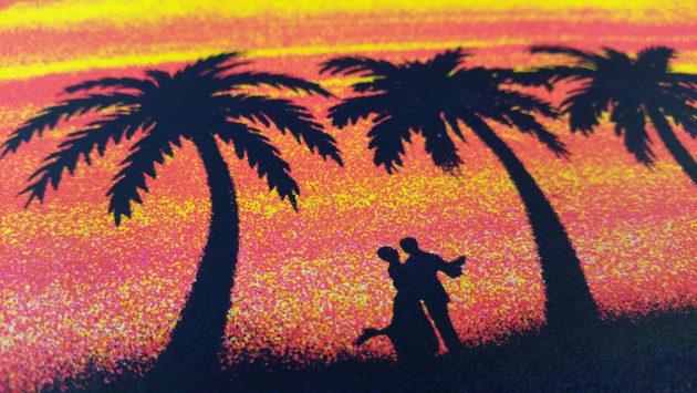 Umphrey's Chucktown Ball poster 2016 close up of dancing couple