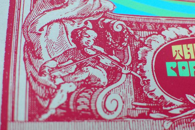 Little Feat silkscreen poster close up