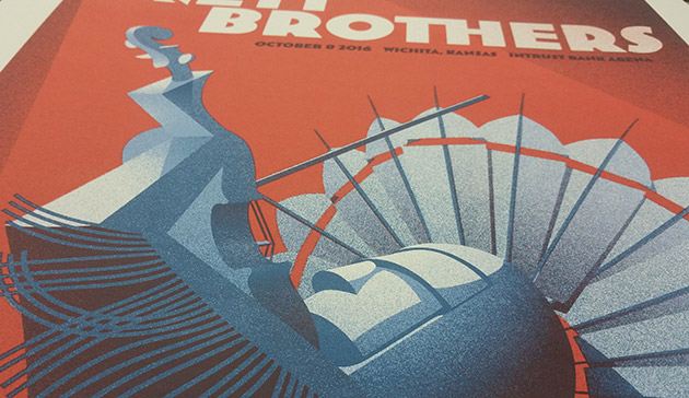 Avett Brothers poster detail shot